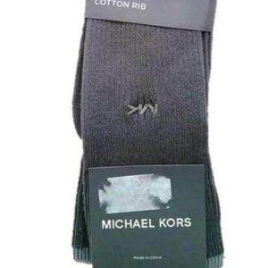 MICHAEL KORS Cotton Rib GREY Men's Socks HANDLINKE